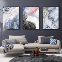 Abstract Posters And Prints Watercolor Colorful Canvas Nordico Poster Print Modern Painting Pictures Home Decoration