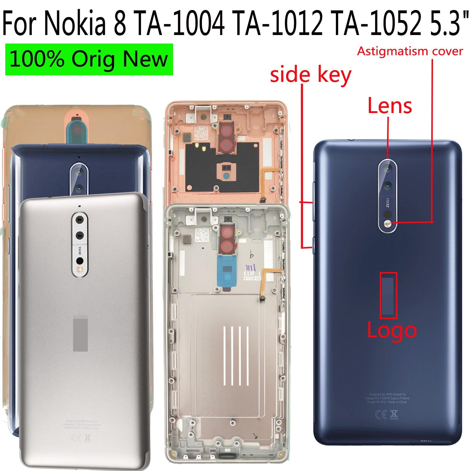 "Shyueda 100% Orig New + Lens 5.3"" For Nokia 8 TA-1004 TA-1012 TA-1052 Rear Back Door Housing Battery Door Cover(China)"