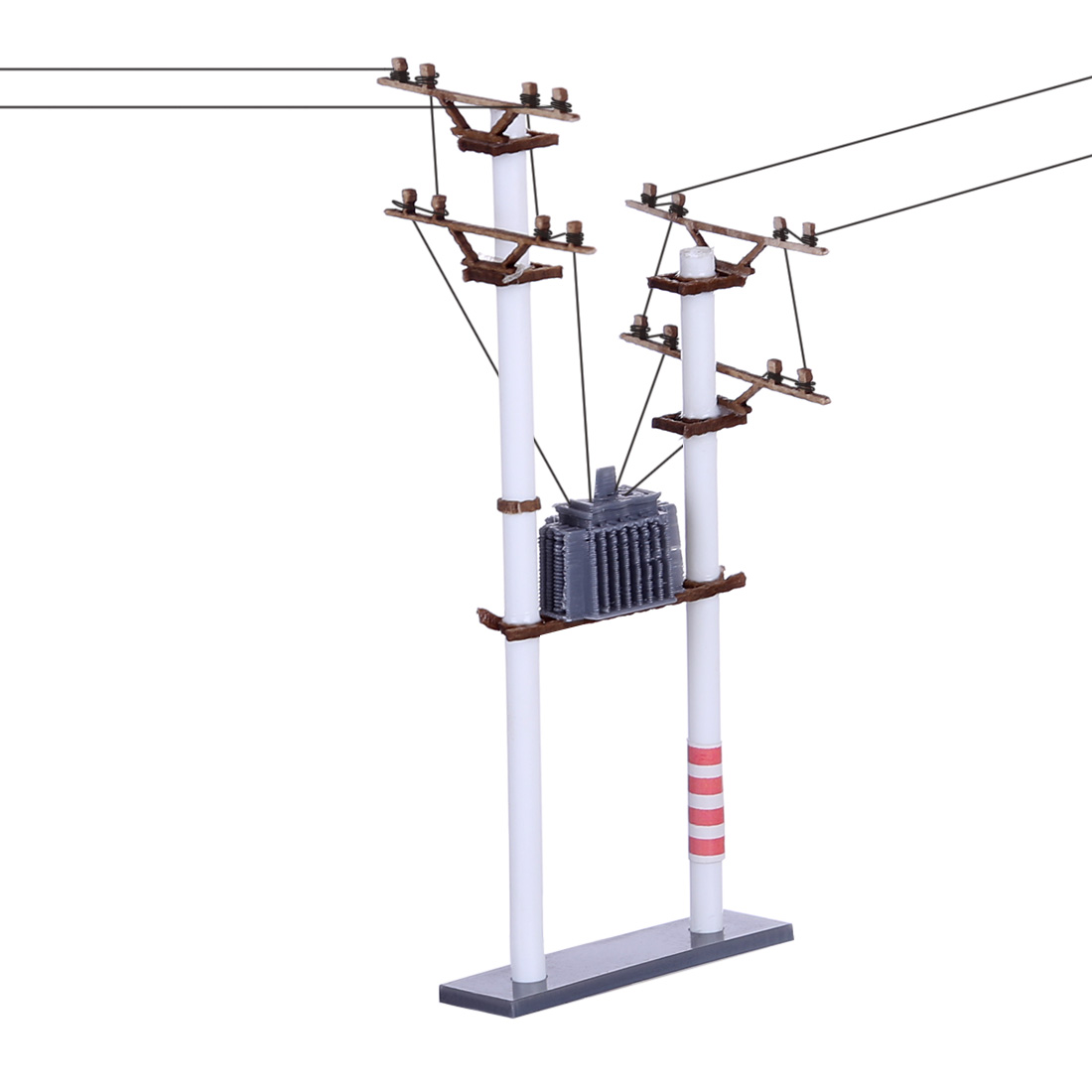 1:87 HO Scale S3A Transformer Telephone Pole Model For DIY Train Sand Table Model Accessories