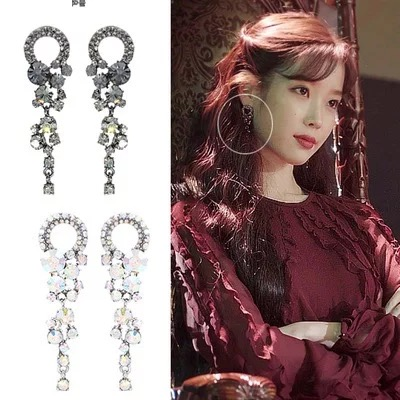 2color 이지은 DEL LUNA Hotel IU Korean dramas TV Fashion personality eardrop Elegant For Women Earrings pendientes brincos ornament