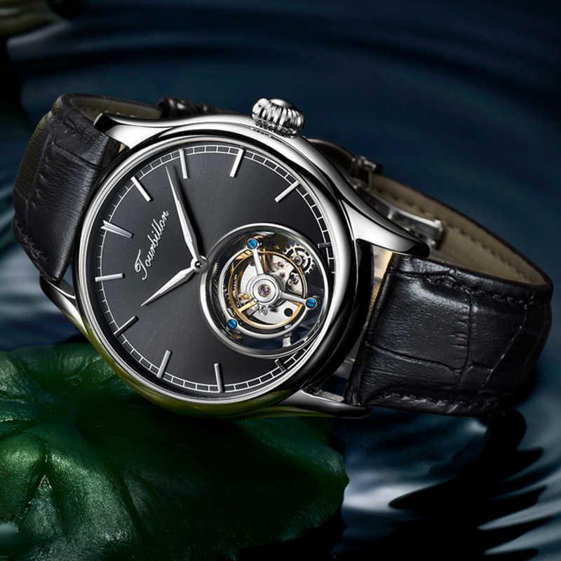 Reloj Tourbillon GUANQIN reloj Original esqueleto mecánico zafiro relojes para hombres reloj de lujo de marca superior reloj Masculino
