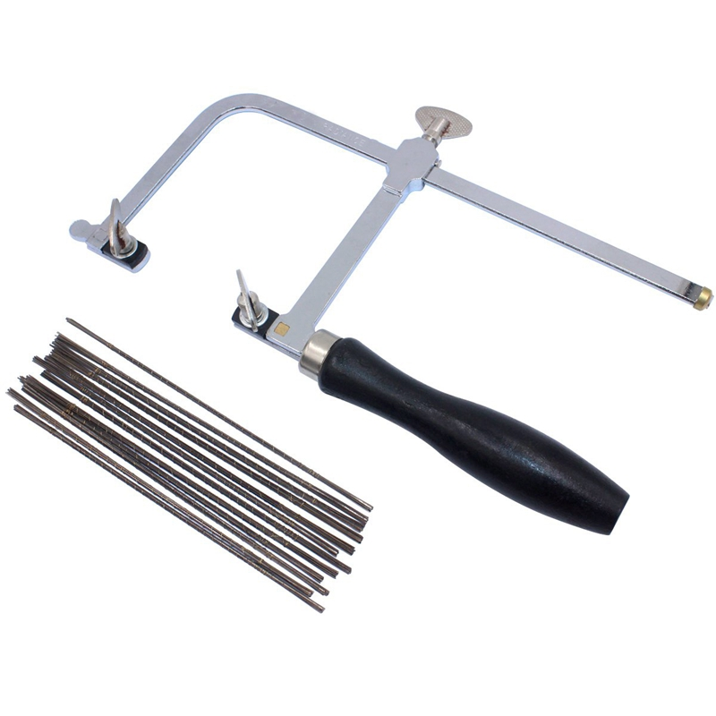 Jeweler'S Saw Frame Adjustable With 144 Blades Professional Jewelry Making Kit