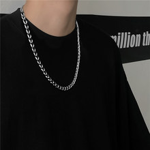Necklace Titanium Chain for Men and Women Metal Stainless Steel Trendy Gold Silver Color Jewelry Fashion Cn(Origin)