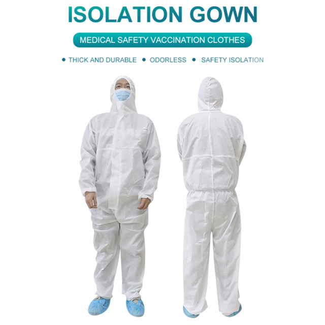 PPE Suit Anti-Virus  Coverall Hazmat Suit Protective Disposable Clothing Disposable Factory Hospital Safety Clothing 5