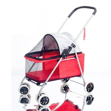 Pet Dog Products Walking The Cat Cart Two Way Light and Portable Foldable Small Teddy Outdoor Pets Special Purpose Vehicle