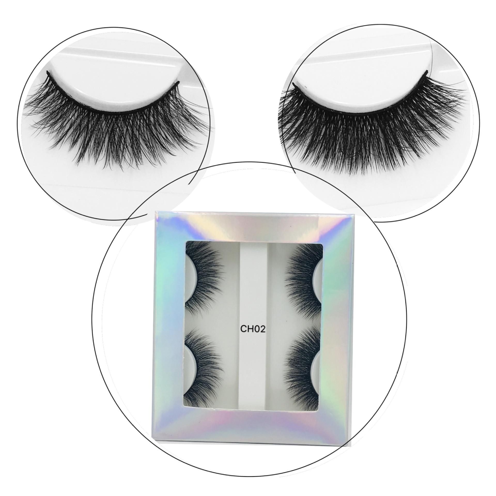 natural olhar grosso falso cilios maquiagem dos 05