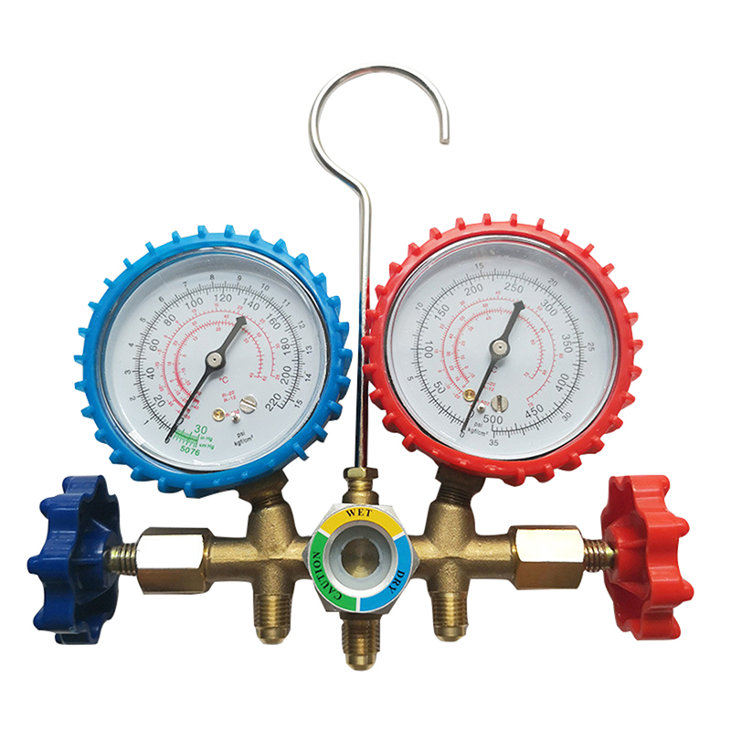 New Auto Manifold Gauge Set R134A Refrigerant Charging Hose with 2 Quick Coupler For R134A Air conditioning Refrigeration