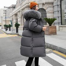 Casual Thickening winter jacket women Warm Parka Long Coat Female down cotton Hooded Ladies Outwear woman Fur collar jacket winter long maternity hooded jacket pregnancy coat jacket fur collar side pocket drawstring coat for pregant woman snow outwear