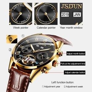 Image 2 - JSDUN montre mécanique étanche pour hommes, montre automatique, lumineuse et étanche, vente en gros, usine de présentation de lannée