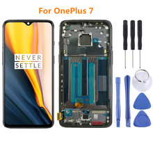 цена на For 6.41 Oneplus 7 LCD SCREEN LCD Display Screen+Touch Panel Digitizer with frame 1+7 For oneplus 7