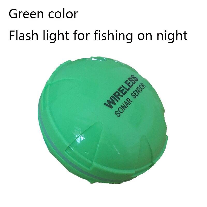Портативный рыболокатор Bluetooth беспроводной эхолот Sonar сенсор глубина эхолот для озера море Рыбалка IOS и Android - Цвет: green