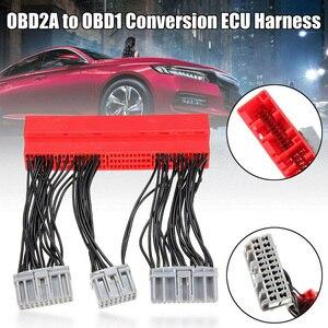 OBD2A к OBD1 жгут автомобиля Замена Перемычка ЭБУ преобразования жгут проводов адаптер для Honda для Acura