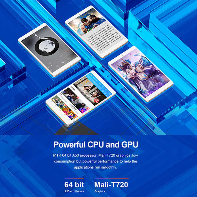 تابلت تيكلاست P80 برو شاشة لمس أندرويد 8 بوصة 1280*800 3GB RAM 16GB ROM ثنائي واي فاي أندرويد 7.0 MTK8163 كواد كور تابلت جي بي إس