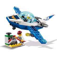 New City Toys Sky Police Jet Patrol Compatible Legoingly City 60206 Building Blocks Figure Bricks for Children Christmas Gift jet city 24s