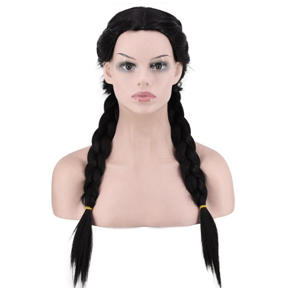 Soowee Long Braided Box Braids Wigs Black Brown Afro Wig For Women Synthetic Hair Piece Cosplay Wig Bob Hair