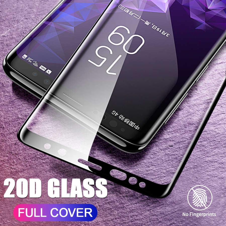20D غطاء كامل منحني حافة الزجاج المقسى لسامسونج غالاكسي S10 S10e S9 S8 نوت 10 زائد برو 9 8 واقي للشاشة ل A9 A8 2018