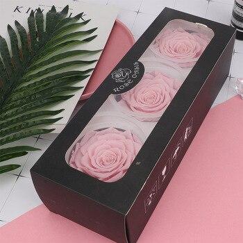 A- Grade 7-8CM Eternal Rose Live Flowers Gift Glass Material bao xian hua