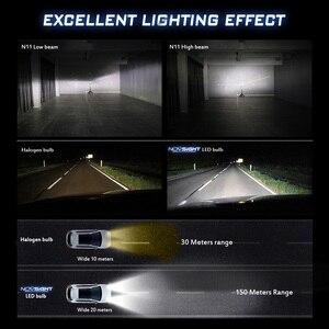 Image 4 - NOVSIGHT רכב פנס H4 Hi/Lo קרן LED H7 H1 H3 H8 H9 H11 H13 9005 9006 9007 50W 10000lm 6500K אוטומטי פנס ערפל נורות
