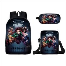 Ghost death blade backpack pencil bag bag messenger bag  Children School Bags Set Cartoon Backpack Kids School Boy Girl Book Bag cute kitten cats puppy dogs print backpack pencil bag for teenager boy girl children school bags kids bookbag women backpack