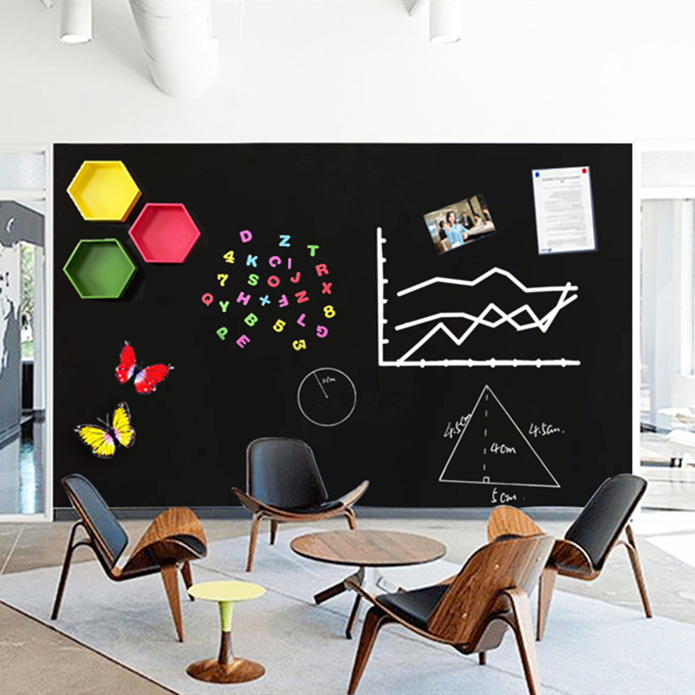 120*60cm Erasable Writing BlackBoard Wall Sticker Home Office School Hold Magnets Removable Decor Wallpaper Kids Graffiti Toy