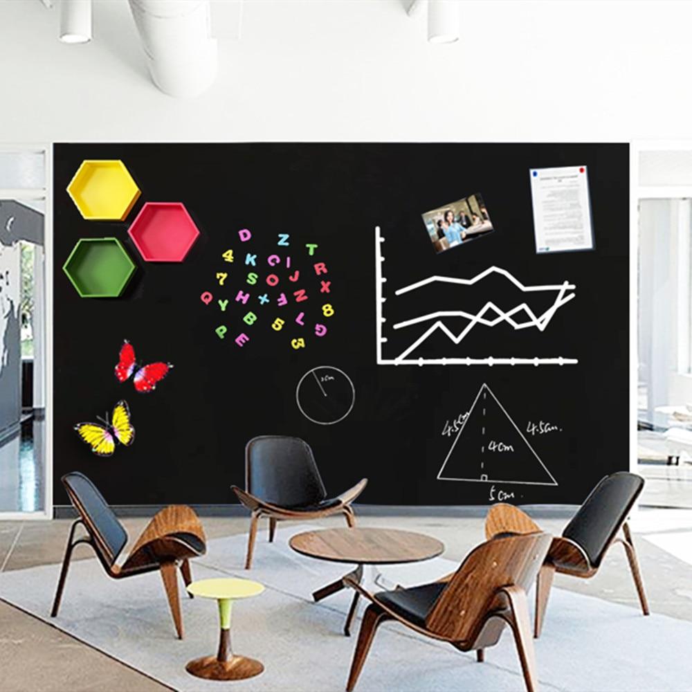 200x45cm segure ímãs quadro negro removível adesivo de parede quadro crianças aprendendo graffiti pintura mensagem blackboard brinquedo - 2