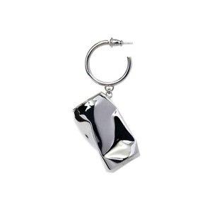 Image 1 - AMBUSH 925 zilver gevouwen kan Oorbellen hip hop mode sieraden originele geschenkdoos