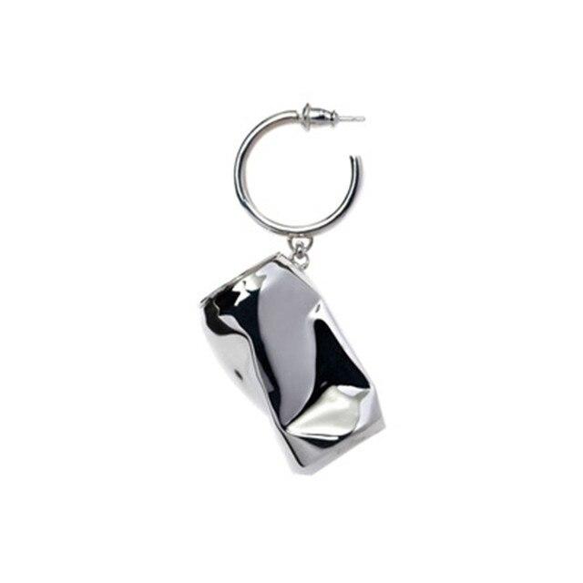 AMBUSH 925 zilver gevouwen kan Oorbellen hip hop mode sieraden originele geschenkdoos