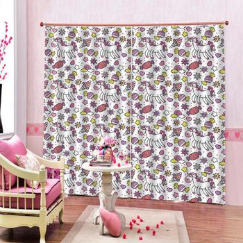 cartoon curtains Customized size Luxury Blackout 3D Window Curtains For Living Room girls curtain Drapes Cortinas