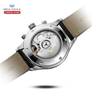 Image 3 - שחף גברים של שעון עסקי מזדמן עמיד למים חגורת גברים של שעון מכאני אוטומטי משולבת 6063 מאסטר סדרה