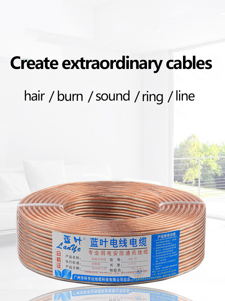 Speaker Cable Audio-Line Amplifier Dj-System Oxygen-Free Home Theater Copper for KTV