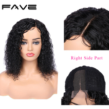 FAVE Jerry Curly Lace Front Wigs Brazilian Remy Human Hair Wig For Women 150% Density Pre Plucked With Baby