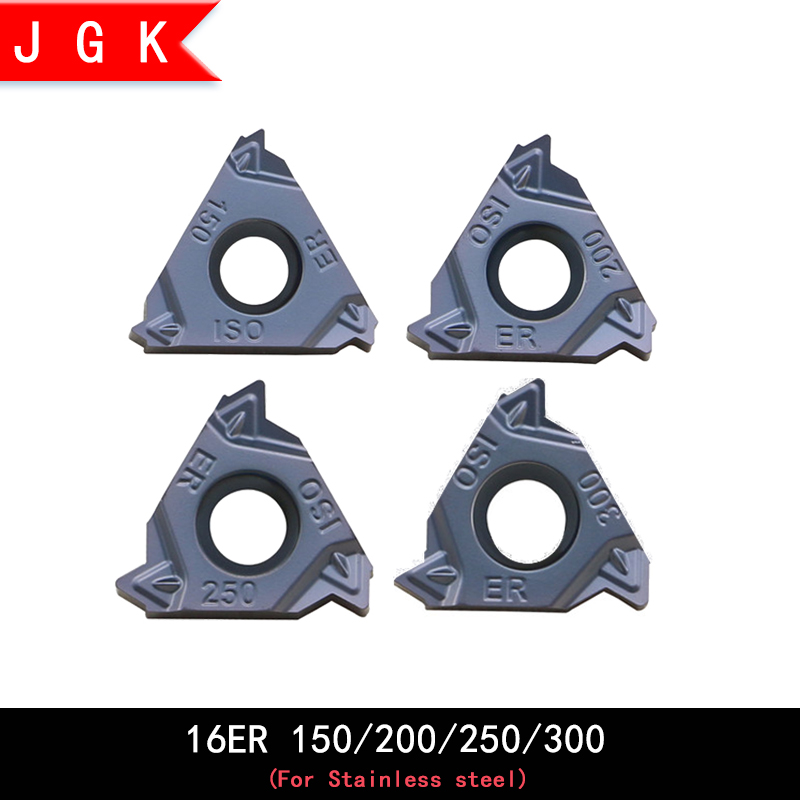 High Quality Threaded Inserts 16ER Iso 150 200 250 300 Cnc Turning Tool External Screw Thread Insert For Stainless Steel