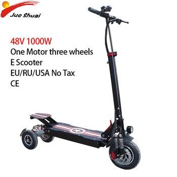 Patinete eléctrico 1000W36V48V E, Scooter plegable de 11 pulgadas con 3 ruedas y Motor delantero, Patinete para adultos, Patinete eléctrico Adulto