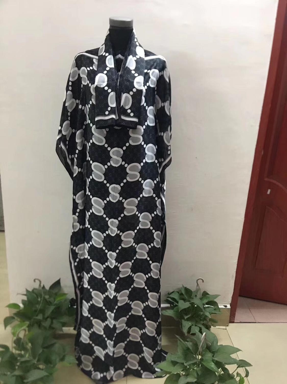 Платье длиной 142 см, обхватом груди 160 см, новинка 2020, модные платья базин с принтом Дашики, женское длинное платье/платье Yomadou, цветной узор, оверсайз Африканская одежда    АлиЭкспресс