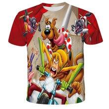 Anime 3d Print T Shirt children Scooby Fashion T-shirt Kids Doo Harajuku Sexy Dog Top Tees Funny Shirts Boys and girls Tshirt 4T
