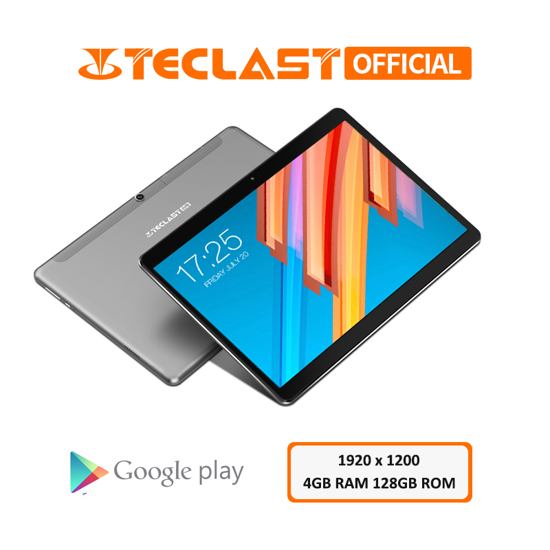 Teclast Tablet PC 128GB-ROM Mt6797x23 Deca-Core Android 8.0 4G LTE 1920x1200 Dual GPS