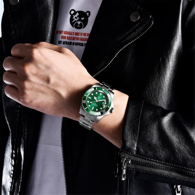 2021 PAGANI Design New 40mm Men Luxury Automatic Mechanical Wrist Watch Men Stainless Steel Waterproof Watch Relogio Masculino 5