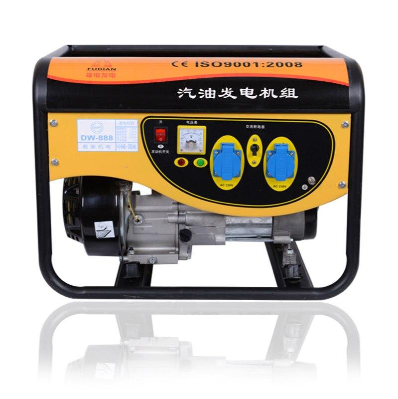 gerador de gasolina domestico monofasico pequeno 220 v 3 5 kw trifasico 380 v mini diesel