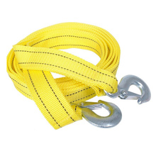 Car Tow Rope Straps with Hooks 5 Tons 4 Meters(13.12ft) with Vehicle Storage Bag High Strength Emergency Towing Rope Cable Cord