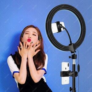 """Image 2 - DOLED 10 """"Selfie LED Ring Light con supporti per telefono treppiede 1.6m per Youtube per Studio fotografico flusso di illuminazione Video fotografica"""