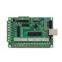 5 ציר USB MACH3 CNC הבריחה לוח 100KHz נהג תנועה חריטה מכונות בקר מודול AM9587 V2.1-באוטומציה של בניין מתוך אבטחה והגנה באתר