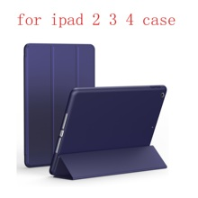 Soft shell Leather  Case for Apple iPad 2 3 4Fashion Smart Cover + TPU translucent back Cover for A1460`A1459`A1458`A1416`A1430 painting wallet shell for apple ipad 2 3 4 a1460 a1459 a1458 9 7 inch coque fundas pu leather case cover for a1416 a1430 a1403