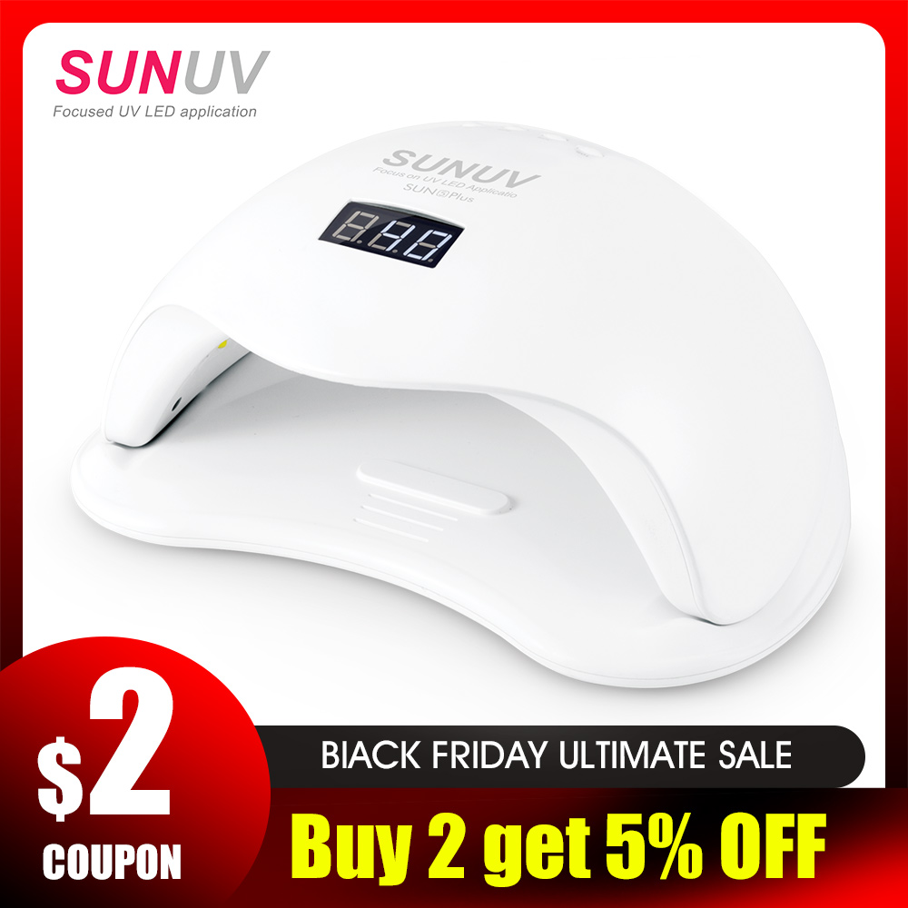 SUNUV SUN5 Plus 48W UV Led Lamp Nail Dryer For Curing All Types Gel 99s Low Heat 36 Leds UV Lamp For Two Hands Nail Art Machine