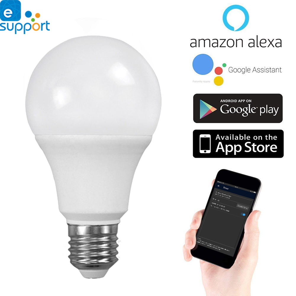 Timethinker Smart LED WiFi Light Bulb Ewelink APP 5.5W E27 LED Lamps Warm Cold Light Dimmable Compatible With Alexa Google Home