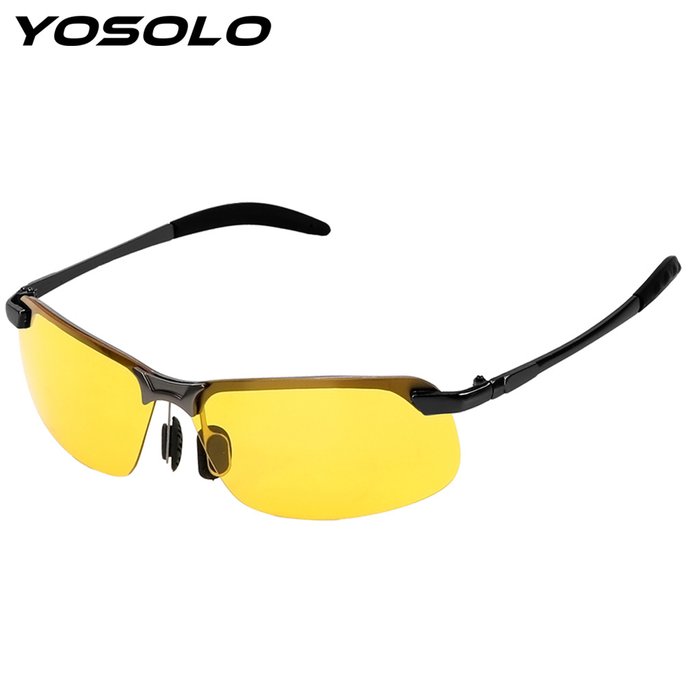 YOSOLO Night Vision Glasses Sunglasses UV Protection Eyewear Auto Accessories Car Driver Goggles UV400 Driving Glasses
