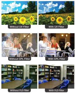 Image 3 - Filtr obiektywu aparatu DSLR UV ND FLD Star color 37 40.5 43 46 49 52 55 58 62 67 72 77 82 mm dla Nikon Canon Sony Fujifim Olympus