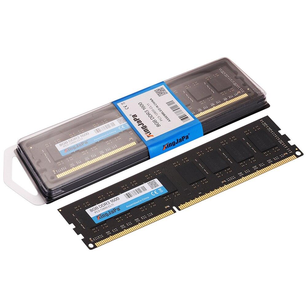 KingJaPa DDR2/DDR3 1GB/2GB/4GB/8GB/16GB 1600MHz/1333MHz/800MHz Desktop RAM 1