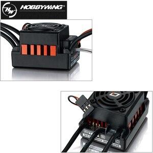 Image 5 - Оригинальный HOBBYWING QUICRUN 10BL120 Sensored 120A 2 3 S Lipo регулятор скорости бесщеточный ESC для 1/10 1/12 RC автомобиля