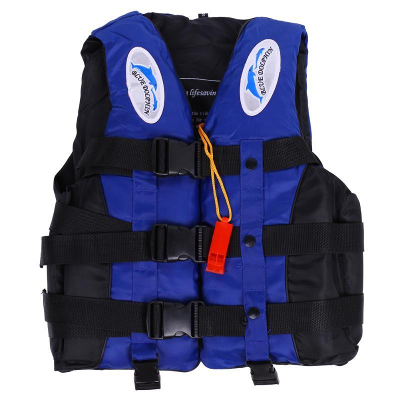 Полиэстеровый спасательный жилет для взрослых, куртка для плавания, катания на лодках, лыжного серфинга, спасательный жилет с свистком, спо...