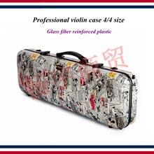 Аксессуары для скрипки, профессиональный чехол для скрипки, размер 4/4, прямоугольник, армированный стекловолокном пластик, рисунок с героями мультфильмов, детали для скрипки